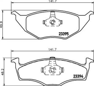 MDB2057 MINTEX Комплект тормозных колодок, дисковый тормоз
