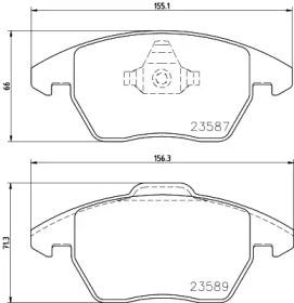 MDB3022 MINTEX Комплект тормозных колодок, дисковый тормоз
