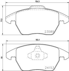 MDB2672 MINTEX Комплект тормозных колодок, дисковый тормоз