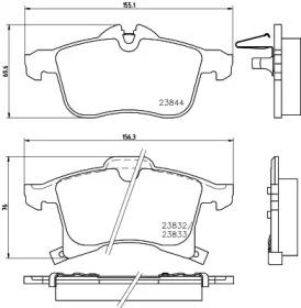 MDB2633 MINTEX Комплект тормозных колодок, дисковый тормоз