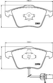 MDB2694 MINTEX Комплект тормозных колодок, дисковый тормоз