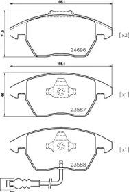 MDB3824 MINTEX Комплект тормозных колодок, дисковый тормоз
