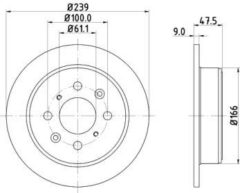 MDC846 MINTEX Тормозной диск