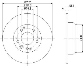 MDC999 MINTEX Тормозной диск