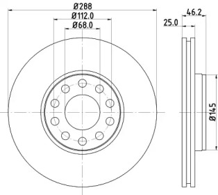 MDC2338 MINTEX Тормозной диск