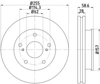 MDC2303 MINTEX Тормозной диск