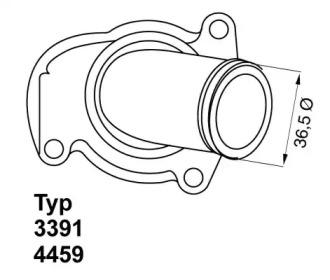445992D WAHLER Термостат, охлаждающая жидкость -1
