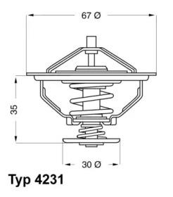 423180D WAHLER Термостат, охлаждающая жидкость -1