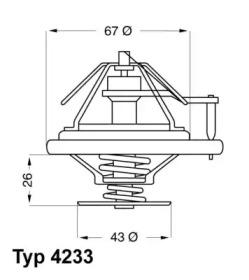 423384D WAHLER Термостат, охлаждающая жидкость -1