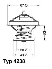 423892D WAHLER Термостат, охлаждающая жидкость -1