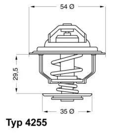 425587D WAHLER Термостат, охлаждающая жидкость -1
