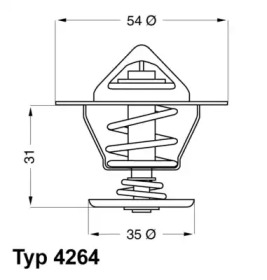 426487D WAHLER Термостат, охлаждающая жидкость -1