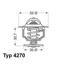 427088D WAHLER Термостат, охлаждающая жидкость -1