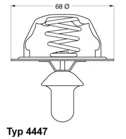 444785D WAHLER Термостат, охлаждающая жидкость -1