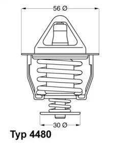 448082D WAHLER Термостат, охлаждающая жидкость -1