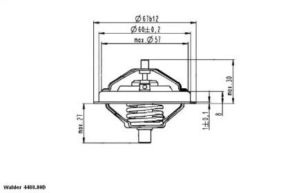 448880D0 WAHLER Термостат, охлаждающая жидкость -1