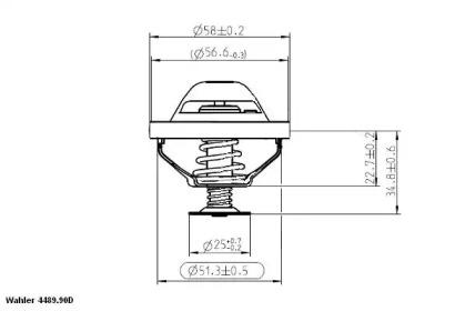 448990D WAHLER Термостат, охлаждающая жидкость -2