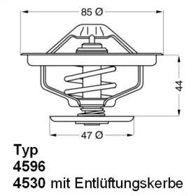 459683D WAHLER Термостат, охлаждающая жидкость -1