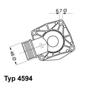 459490D WAHLER Термостат, охлаждающая жидкость -1
