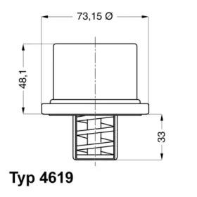461980 WAHLER Термостат, охлаждающая жидкость -3