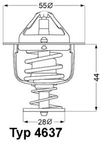 463782D WAHLER Термостат, охлаждающая жидкость -1