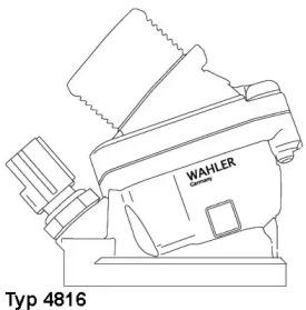 481690D WAHLER Термостат, охлаждающая жидкость -1