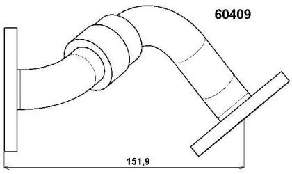 60409D WAHLER Трубка, клапан возврата ОГ -1