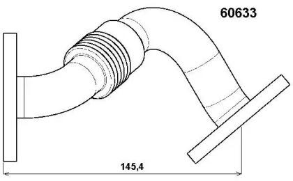 60633D WAHLER Трубка, клапан возврата ОГ -1