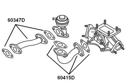 60347D WAHLER Трубка, клапан возврата ОГ -1