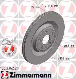 Тормозной диск ZIMMERMANN 100336220