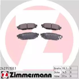 KLOCKI HAMULC. SUBARU LEGACY  03- TYЈ ZIMMERMANN 242711501