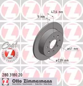 280318020 ZIMMERMANN Тормозной диск