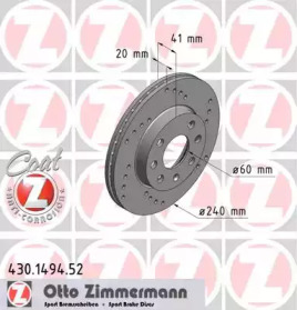 430149452 ZIMMERMANN Тормозной диск