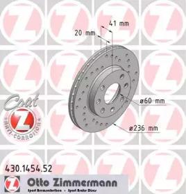 430145452 ZIMMERMANN Тормозной диск