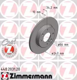 440203120 ZIMMERMANN Тормозной диск