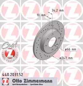 440203152 ZIMMERMANN Тормозной диск