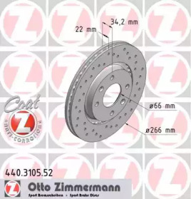 440310552 ZIMMERMANN Тормозной диск