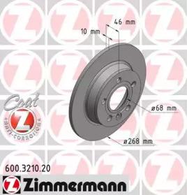 600321020 ZIMMERMANN Гальмiвнi диски