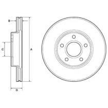 Тормозной диск DELPHI BG3868C для авто FORD, VOLVO с доставкой