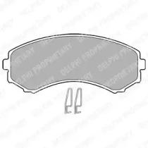 LP1462 DELPHI Комплект тормозных колодок, дисковый тормоз