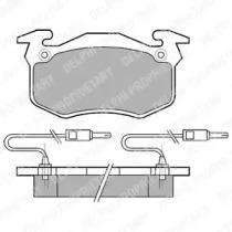 LP382 DELPHI Комплект тормозных колодок, дисковый тормоз