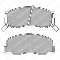 LP409 DELPHI Комплект тормозных колодок, дисковый тормоз