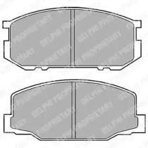 LP456 DELPHI Комплект тормозных колодок, дисковый тормоз