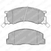 LP941 DELPHI Комплект тормозных колодок, дисковый тормоз