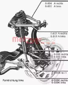 88009611 METZGER Рычаг независимой подвески колеса, подвеска колеса -1